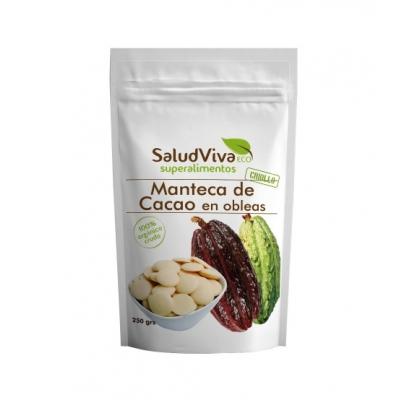 MANTECA CACA EN OBLEAS 250 gr Salud Viva